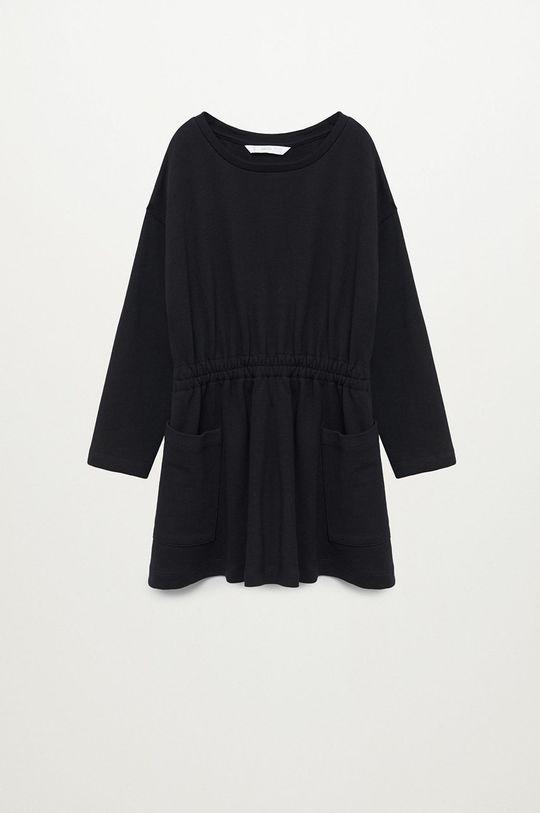 čierna Mango Kids - Dievčenské šaty MARTI Dievčenský