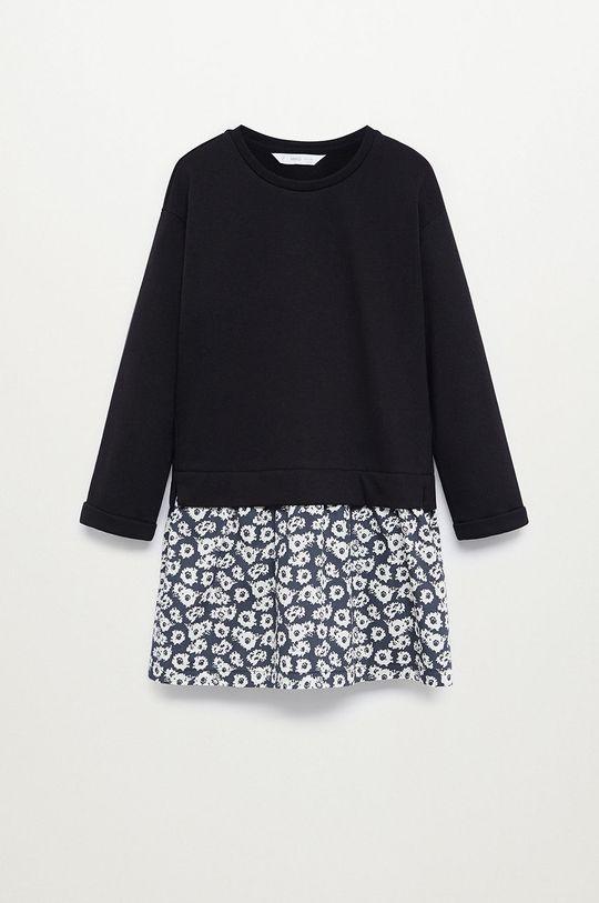 čierna Mango Kids - Dievčenské šaty ALEX Dievčenský
