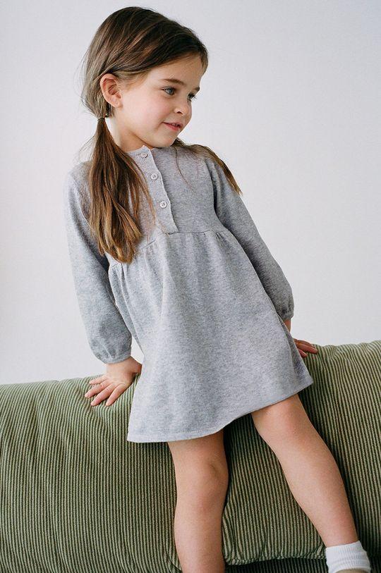 sivá Mango Kids - Dievčenské šaty MIRIAM Dievčenský