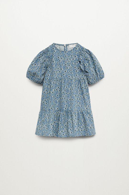 modrá Mango Kids - Dívčí šaty VIVIAN Dívčí