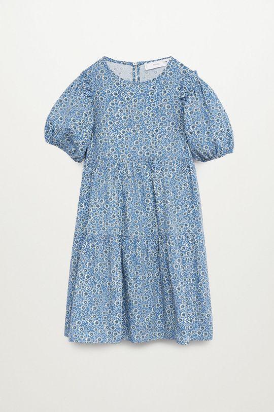 niebieski Mango Kids - Sukienka dziecięca VIVIAN Dziewczęcy