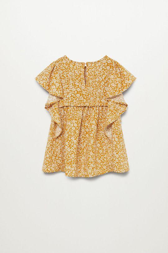 żółty Mango Kids - Sukienka dziecięca Moss 80-110 cm