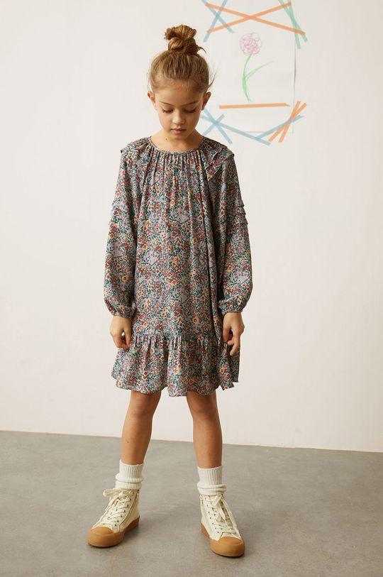 Mango Kids - Dívčí šaty TILDA tyrkysová
