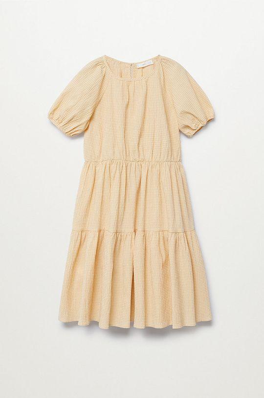 žlutá Mango Kids - Dívčí šaty OHIO Dívčí