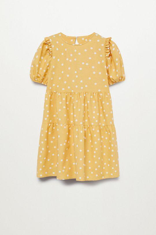 żółty Mango Kids - Sukienka dziecięca DONNA Dziewczęcy
