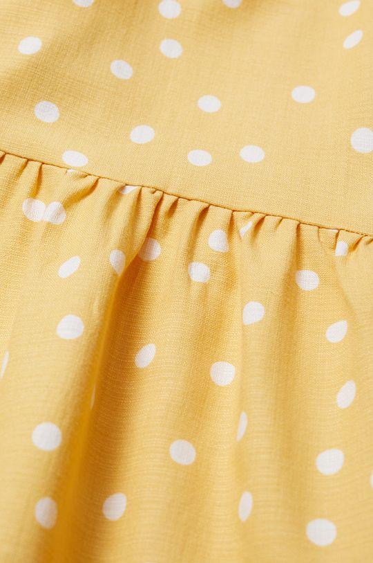 Mango Kids - Sukienka dziecięca DONNA żółty