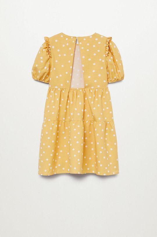 Mango Kids - Sukienka dziecięca DONNA 50 % Bawełna, 50 % Wiskoza