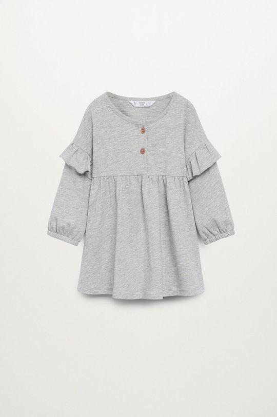šedá Mango Kids - Dívčí šaty ROBERTA Dívčí
