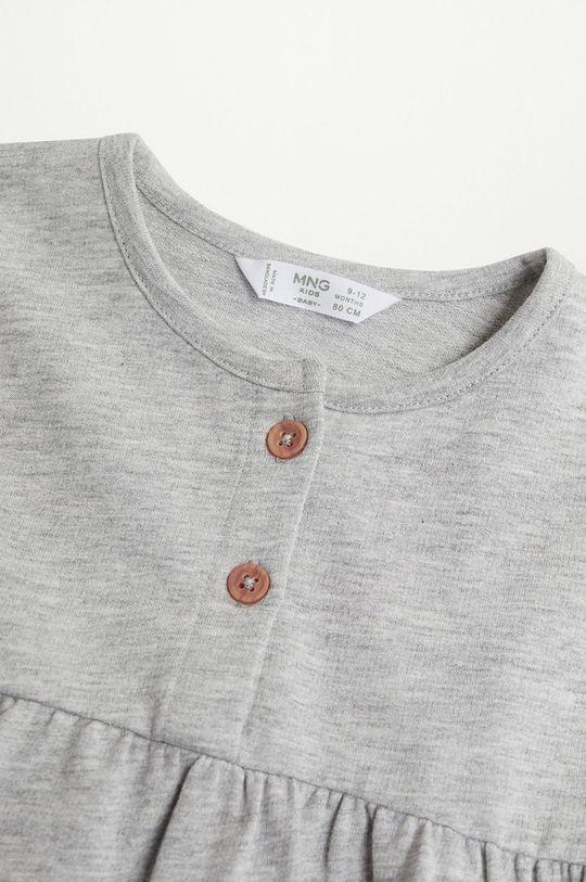 Mango Kids - Dívčí šaty ROBERTA šedá