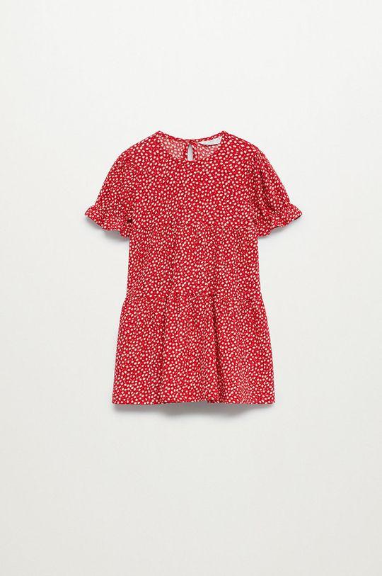červená Mango Kids - Dívčí šaty ROVI Dívčí