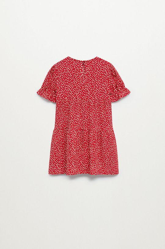 červená Mango Kids - Dívčí šaty ROVI