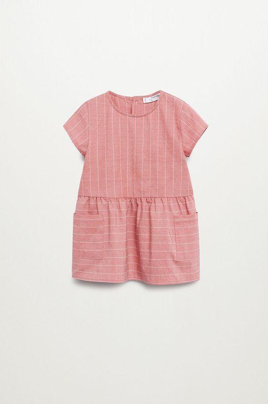 różowy Mango Kids - Sukienka dziecięca ABRIL Dziewczęcy