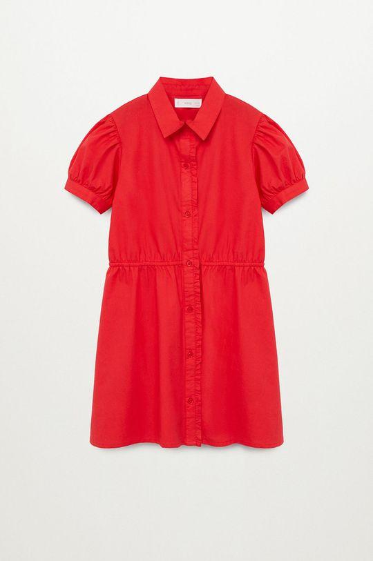 czerwony Mango Kids - Sukienka dziecięca LAST-H Dziewczęcy
