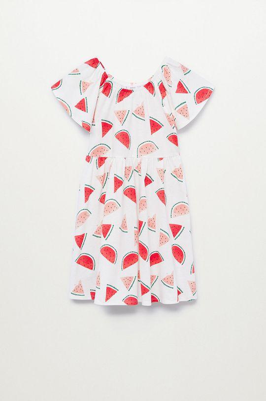 biały Mango Kids - Sukienka dziecięca MARTINA-H Dziewczęcy