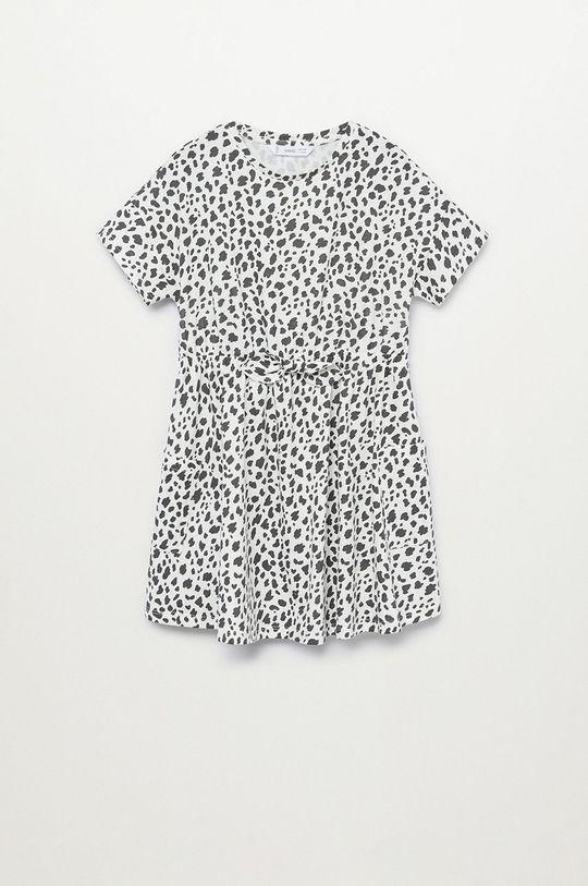 biały Mango Kids - Sukienka dziecięca VANESA-H Dziewczęcy