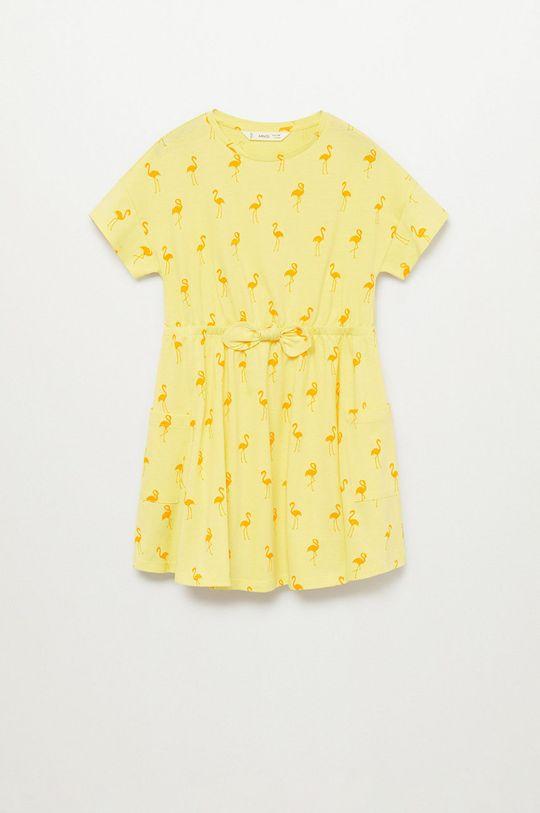 žltá Mango Kids - Dievčenské šaty VANESA-H Dievčenský