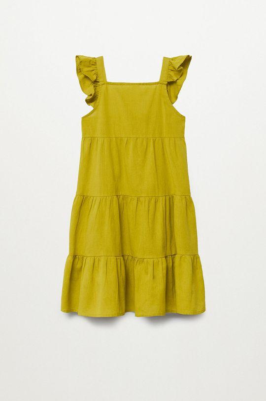 žltá Mango Kids - Dievčenské šaty SIENNA Dievčenský