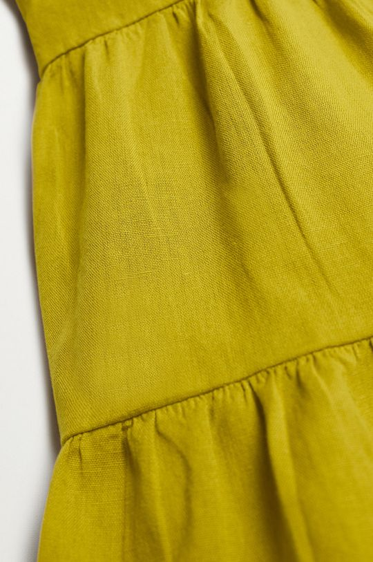 Mango Kids - Dievčenské šaty SIENNA  88% Bavlna, 12% Ľan