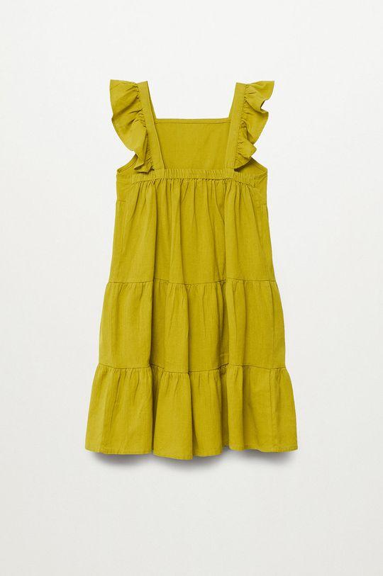 žltá Mango Kids - Dievčenské šaty SIENNA