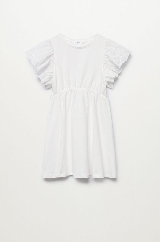 biały Mango Kids - Sukienka dziecięca Suizi 116-164 cm Dziewczęcy