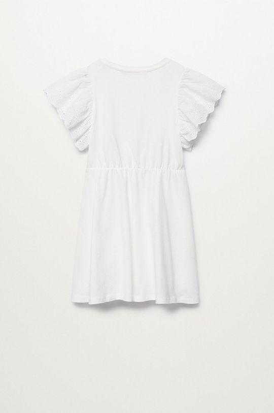 Mango Kids - Sukienka dziecięca Suizi 116-164 cm biały