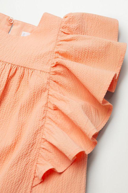 Mango Kids - Sukienka dziecięca Kathi 110-164 cm Podszewka: 100 % Wiskoza, Materiał zasadniczy: 50 % Bawełna, 2 % Elastan, 5 % Len, 43 % Wiskoza