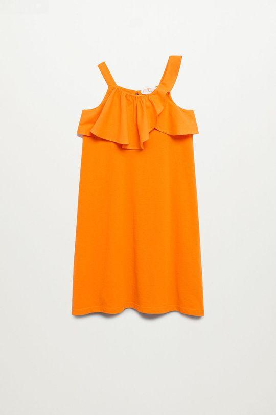 pomarańczowy Mango Kids - Sukienka dziecięca Libra-I 110-164 cm Dziewczęcy