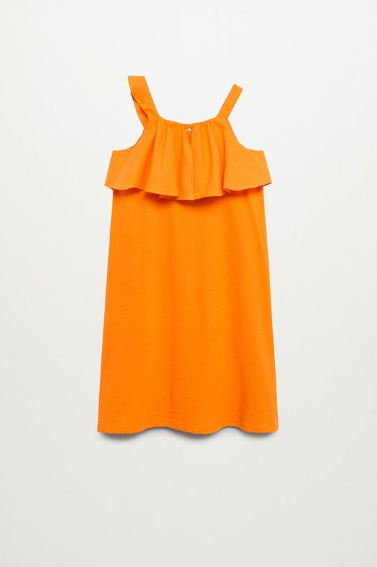 Mango Kids - Sukienka dziecięca Libra-I 110-164 cm pomarańczowy