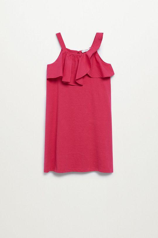 różowy Mango Kids - Sukienka dziecięca Libra-I 110-164 cm Dziewczęcy