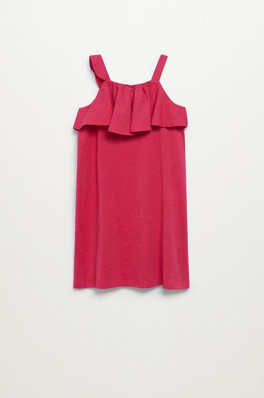 Mango Kids - Sukienka dziecięca Libra-I 110-164 cm różowy