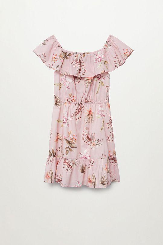 pastelowy różowy Mango Kids - Sukienka dziecięca Dressy 116-164 cm Dziewczęcy