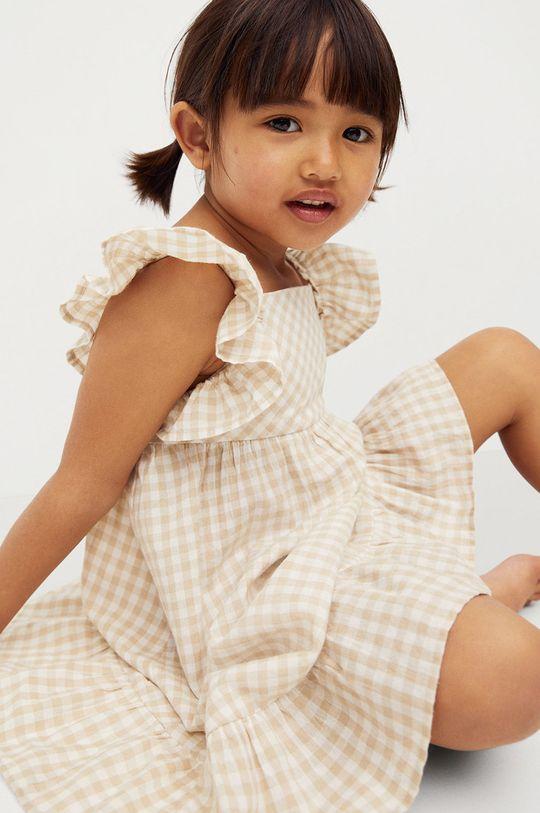 pszeniczny Mango Kids - Sukienka dziecięca Ani 80-110 cm Dziewczęcy