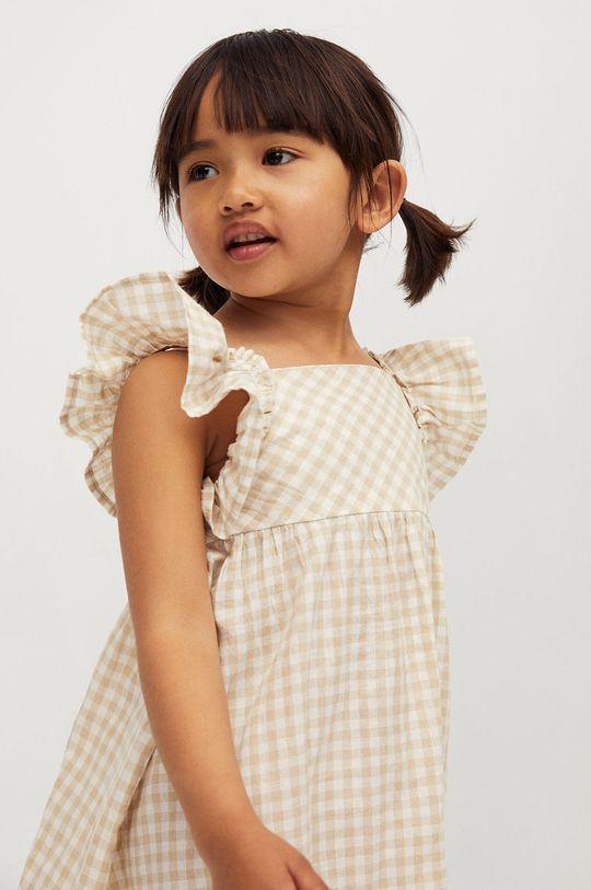 pszeniczny Mango Kids - Sukienka dziecięca Ani 80-110 cm