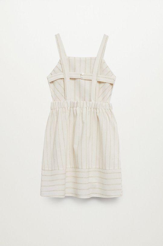 Mango Kids - Sukienka dziecięca Celina 110-152 cm 29 % Bawełna, 5 % Len, 63 % Poliester, 3 % Wiskoza