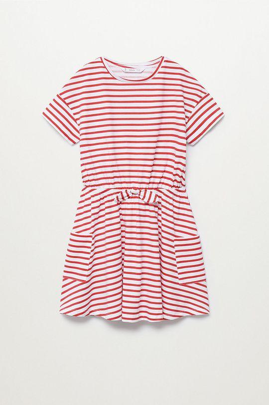 biały Mango Kids - Sukienka dziecięca Vanesa 110-164 cm Dziewczęcy