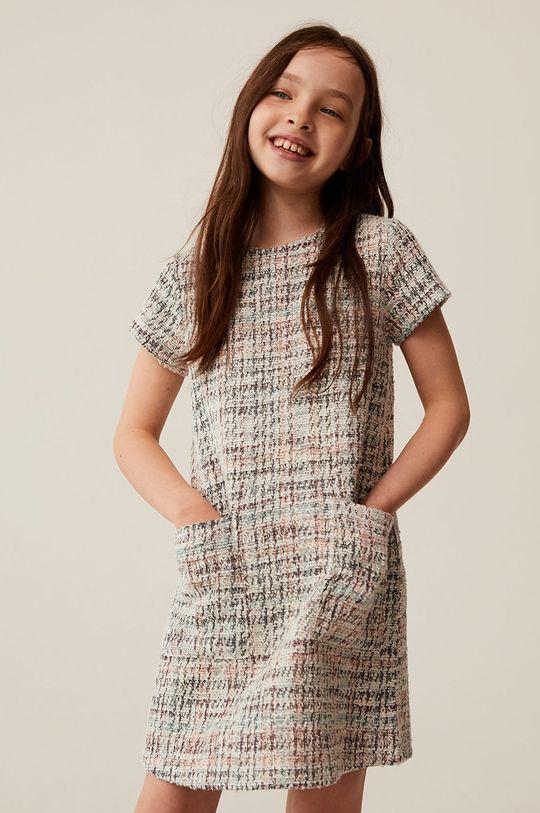 biały Mango Kids - Sukienka dziecięca Ana 110-164 cm Dziewczęcy