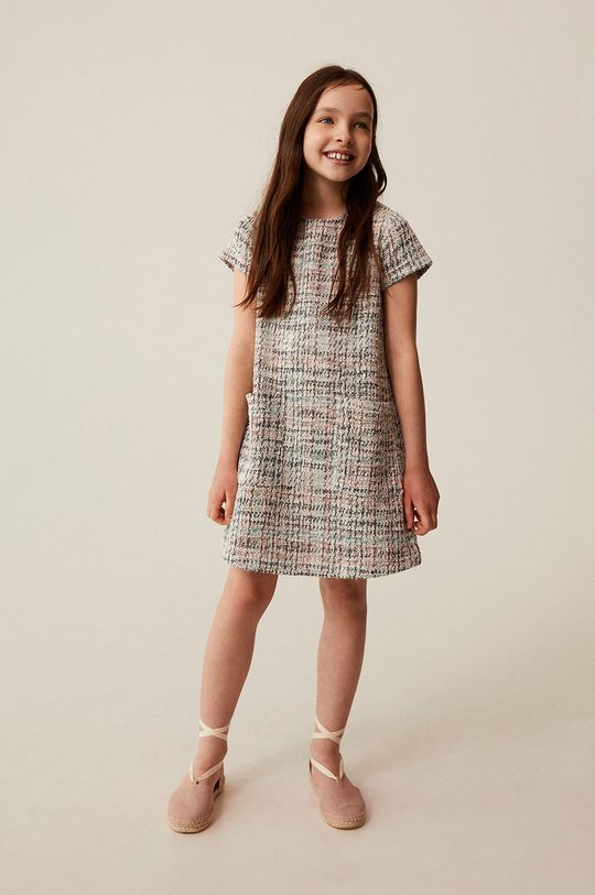 Mango Kids - Sukienka dziecięca Ana 110-164 cm biały