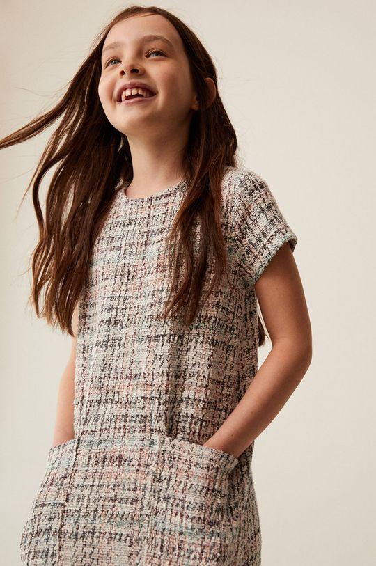 Mango Kids - Sukienka dziecięca Ana 110-164 cm 48 % Bawełna, 52 % Poliester