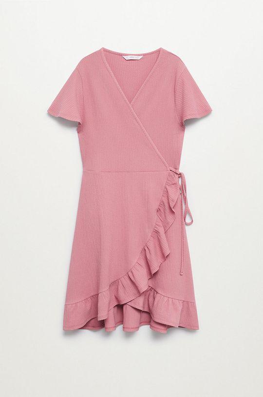 różowy Mango Kids - Sukienka LEOPI Dziewczęcy