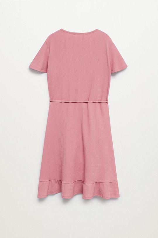 Mango Kids - Sukienka LEOPI różowy