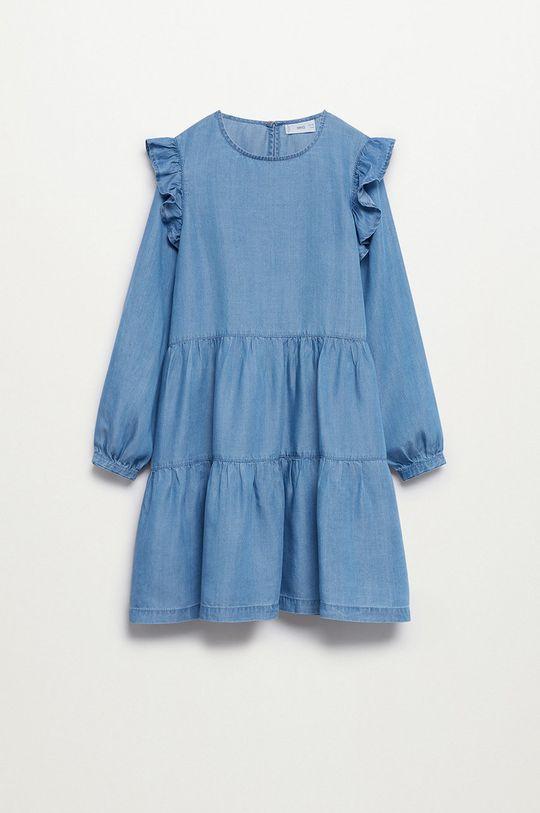 Mango Kids - Sukienka dziecięca Cara 110-164 cm fioletowy
