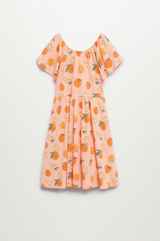 jasny pomarańczowy Mango Kids - Sukienka dziecięca Martina 110-164 cm Dziewczęcy