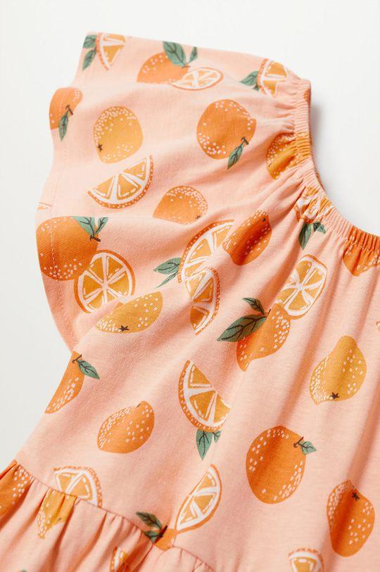 Mango Kids - Sukienka dziecięca Martina 110-164 cm jasny pomarańczowy