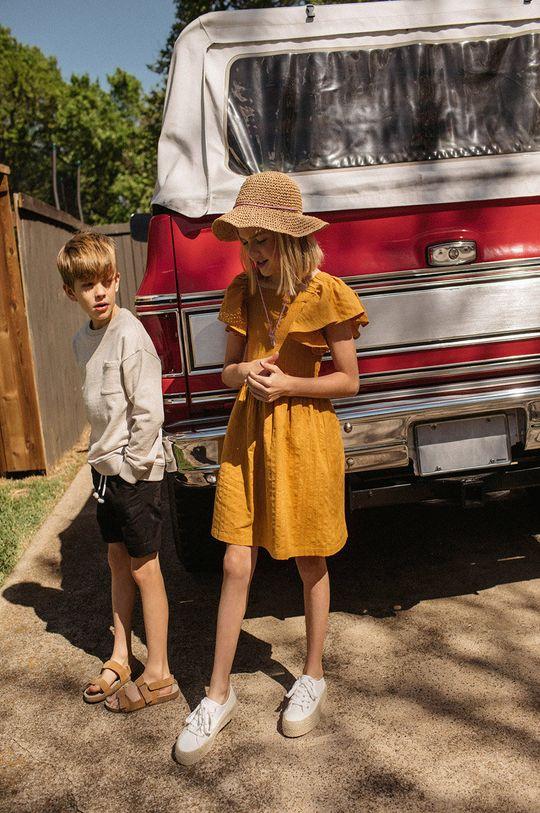 žltá Mango Kids - Dievčenské šaty Natalie 110-164 cm