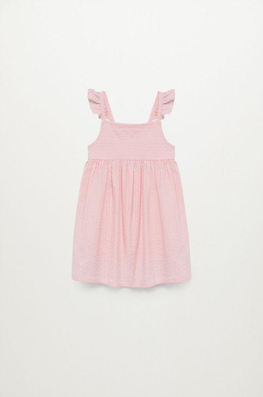 pastelowy różowy Mango Kids - Sukienka dziecięca Vega 80-110 cm Dziewczęcy