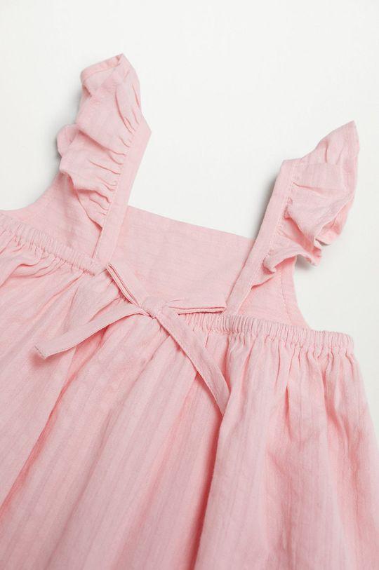 Mango Kids - Sukienka dziecięca Vega 80-110 cm pastelowy różowy