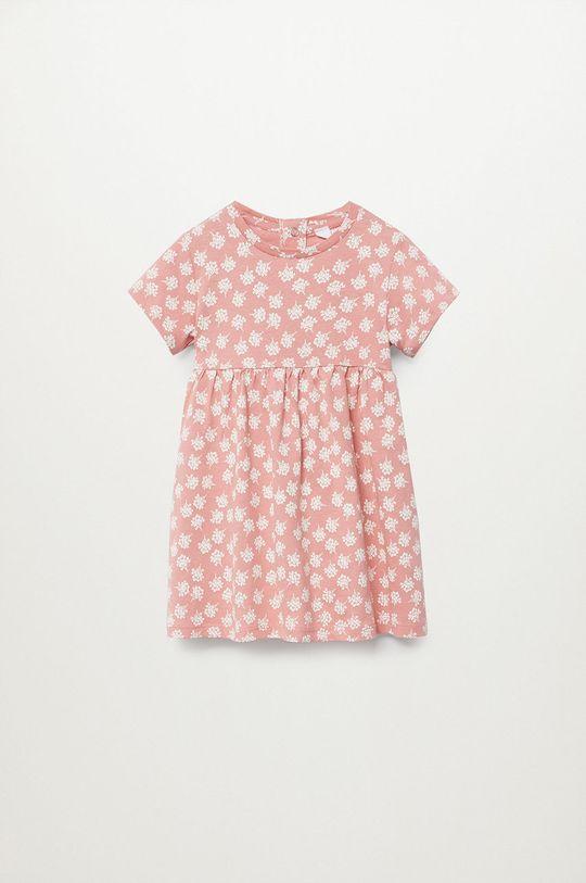 červená Mango Kids - Dievčenské šaty VICKY Dievčenský
