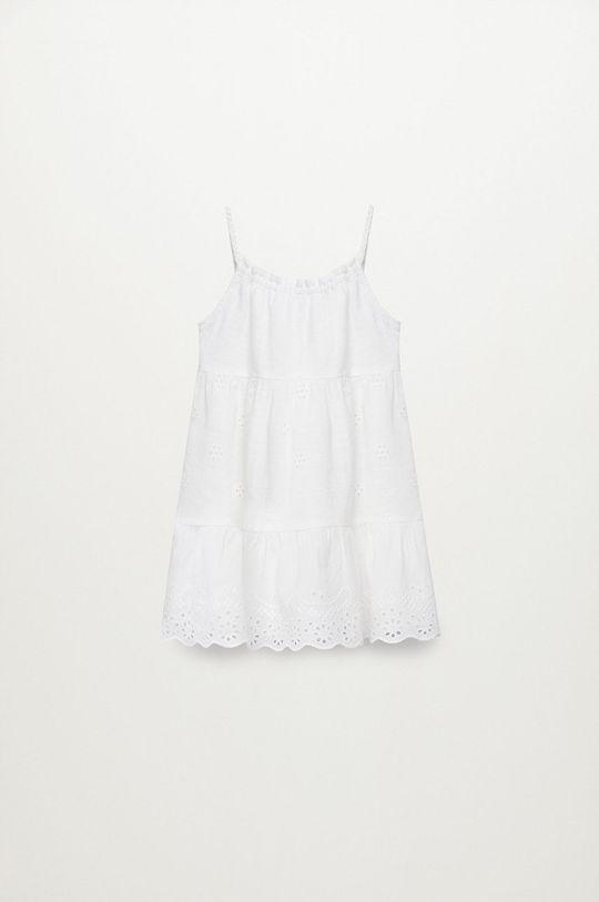 biały Mango Kids - Sukienka dziecięca PLAYA Dziewczęcy