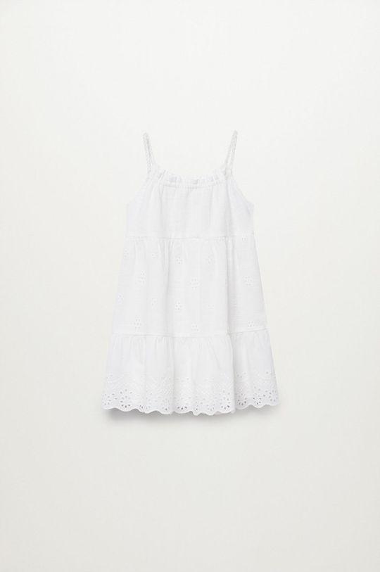 Mango Kids - Sukienka dziecięca PLAYA biały