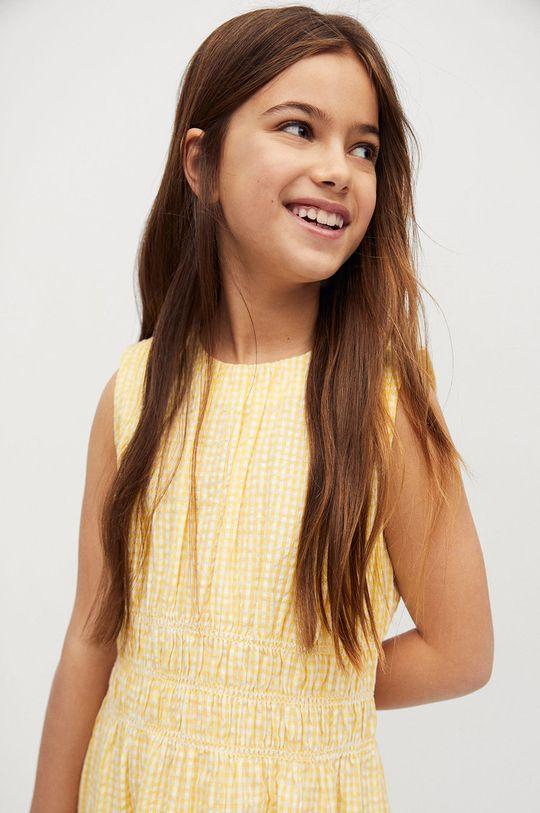 Mango Kids - Sukienka dziecięca SOL żółty